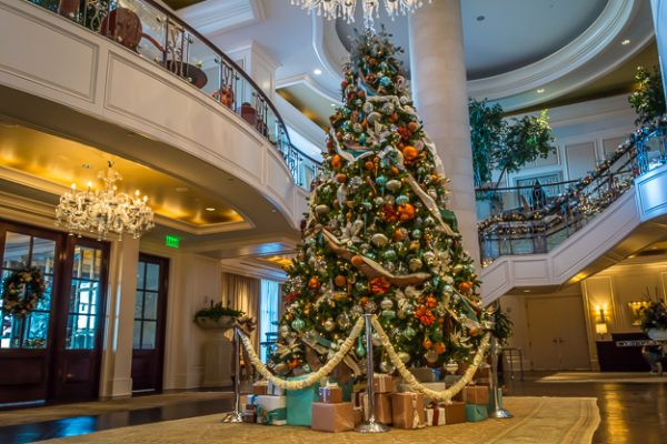 Christmas tree at the St Regis Hotel