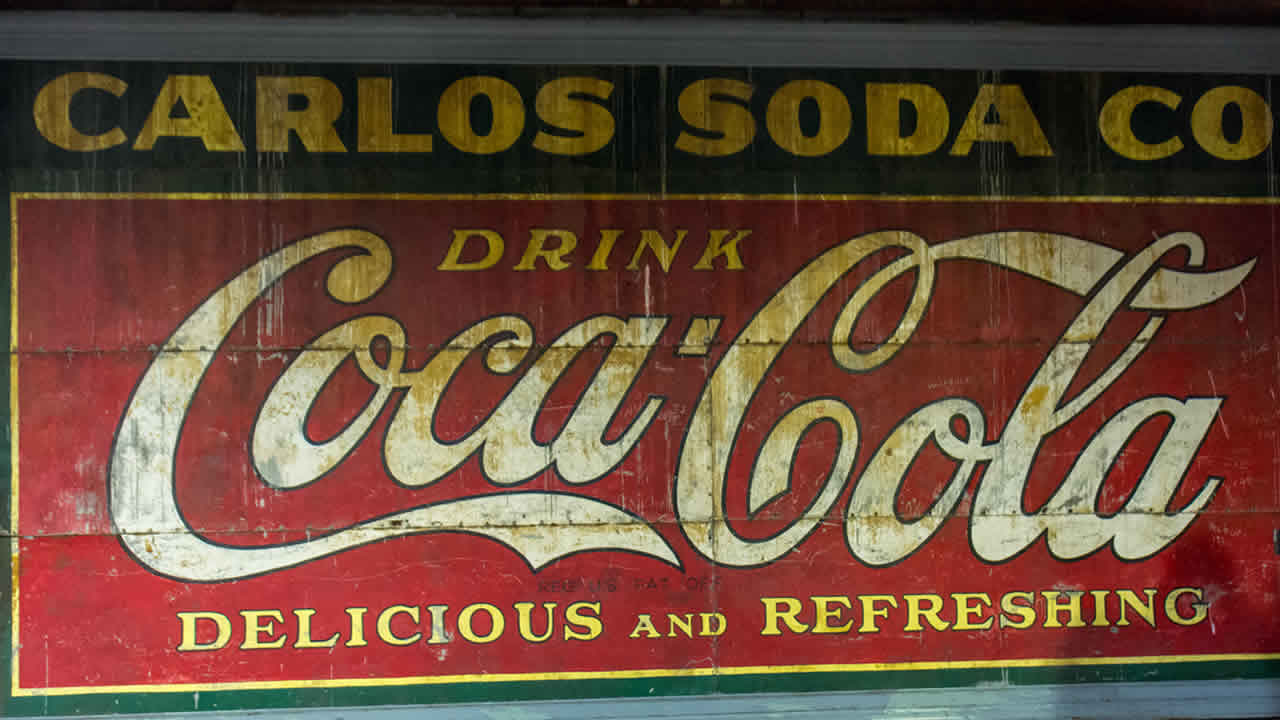 Coca Cola sign from Underground Atlanta