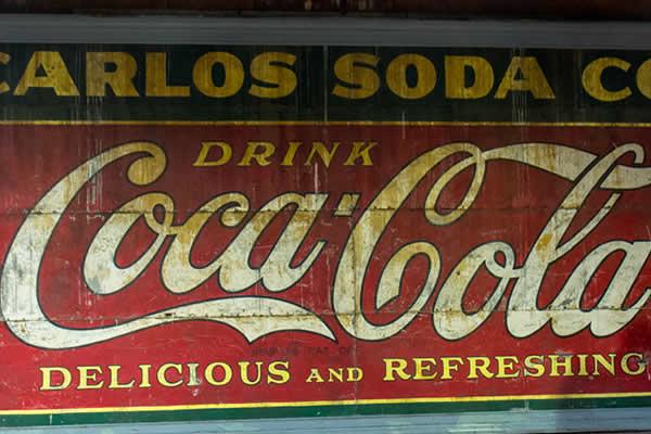 Underground Atlanta Coca Cola sign