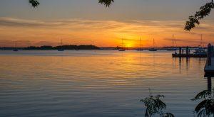 sunset on Amelia Island Florida
