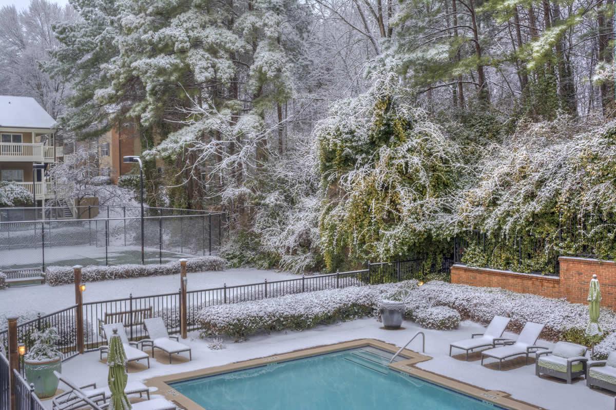 Atlanta snow WestHaven Vinings pool