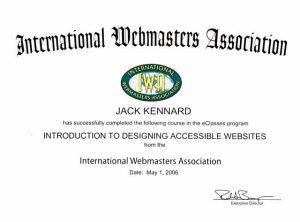 Web Accessibility Certification