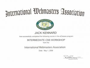 Web certification for CSS