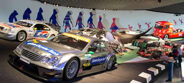 Mercedes museum race track