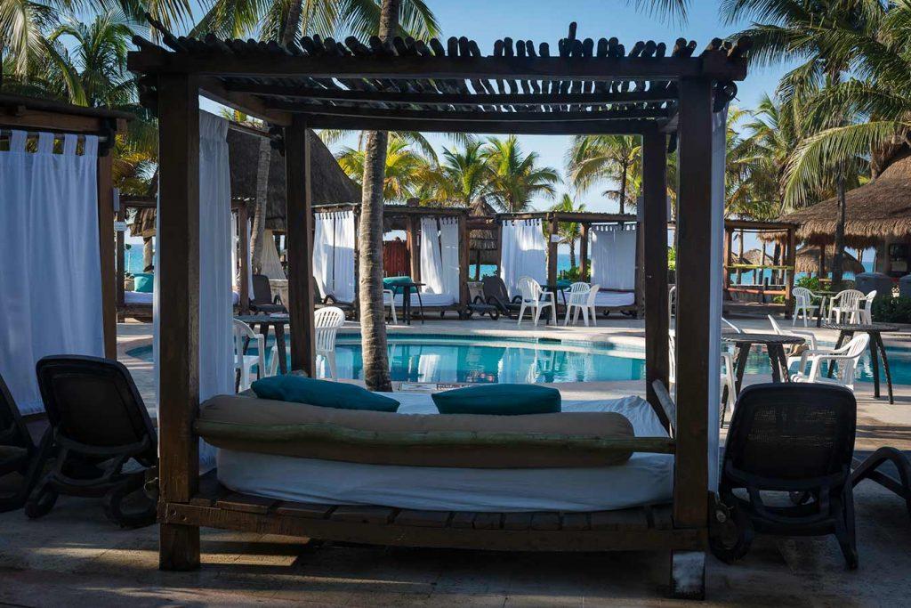 Pool Beds at Sandos Playacar