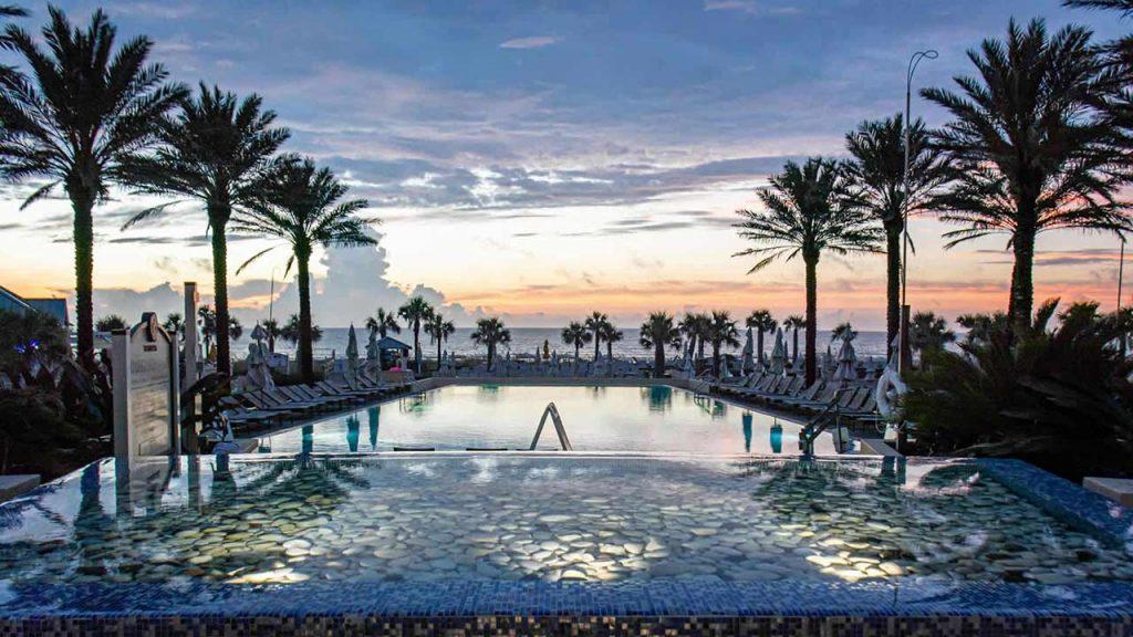 Omni Amelia Island Hotel pool sunrise