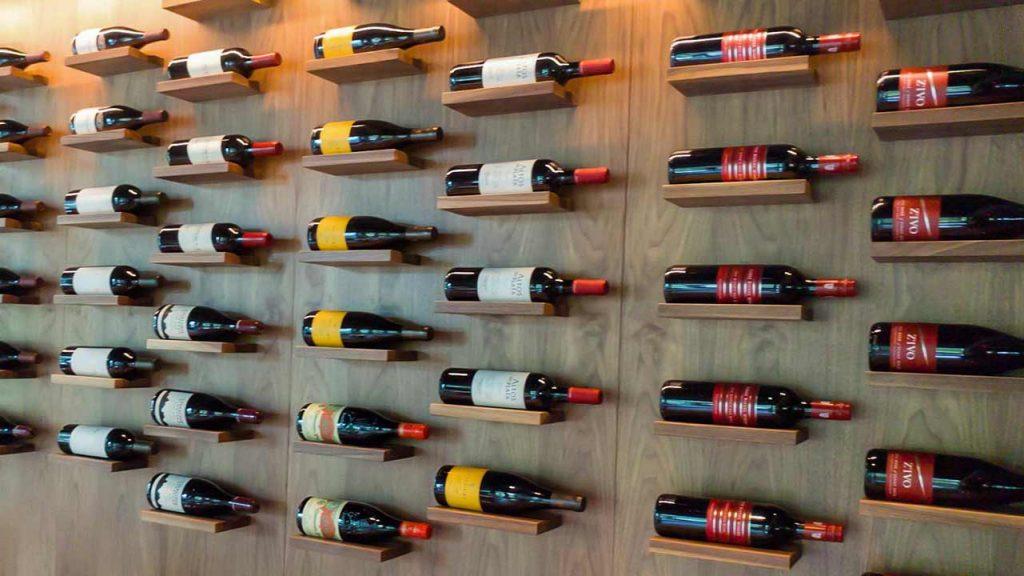 Wine choices at Pogo's Kitchen