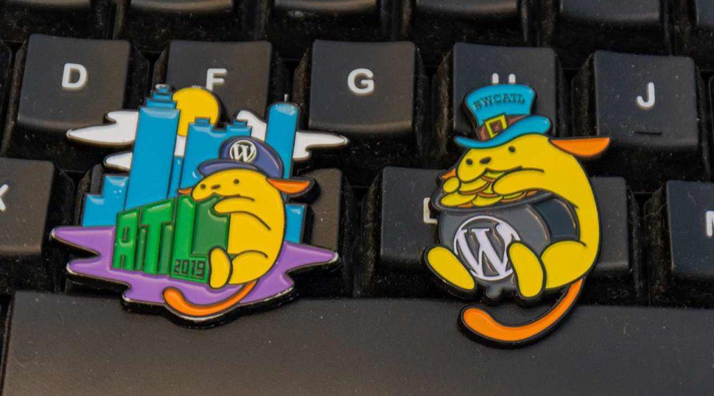 Atlanta Wordcamp pin swag